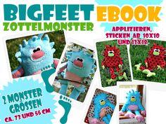 Ebook♥+BIGFEET+Kuschelmonster♥+von+Schönes+von+Emilu+auf+DaWanda.com