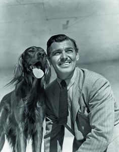 On old portrait of the grand actor #ClarkGable and his dog, cinematicfinatic