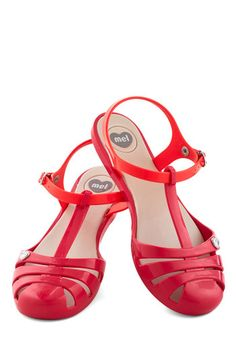 Sweet Me Off My Feet Flat in Pink: As soon as you fasten the silver buckles of these Mel Shoes sandals on your toes  itll be love at first step! Dedicated to vegan-friendly  thoughtful  fantastic…    #1960s #60s #Retro #Vintage #MelShoes, #Red, #SweetMeOffMyFeetFlatInPink
