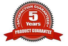 5 Years Product Guarantee