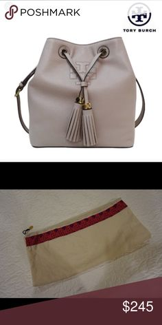 0e5971b463023 Tory Butch Bucket Bag Gorgeous Grey bucket bag! Barely worn and in amazing  condition. 100% authentic! Tory Burch Bags Shoulder Bags