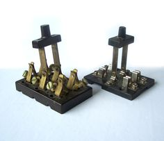 TWO Vintage Knife Switches double pole by MargsMostlyVintage Electrical Switches, Assemblage Art, No Name, Vintage Antiques, I Shop, Steampunk, Handmade, Ideas, Thoughts
