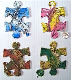 I really like this idea.  These would be fun gifts to make.  I have a lot of puzzlers in my family <3