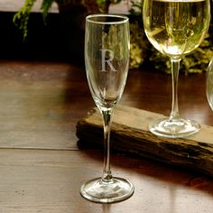 Personalized Barware - Toast to health and happiness with our Personalized Toasting Glass. This traditionally styled toasting flute holds 8 ounces of bubbly. Best Man Wedding, Toasting Flutes, Wedding Toasts, Champagne Glasses, Champagne Toast, Personalized Wedding Gifts, Engraved Gifts, Personalized Items, Bridal Gifts