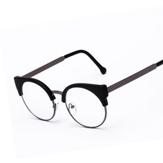 ファッション女性ブランドデザイナー猫の目メガネハーフフレームキャットアイサングラスメガネ女性眼鏡フレーム高品質grau F15010
