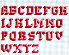 cross stitch alphabet pattern                                                                                                                                                                                 More