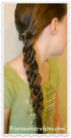 Unique side braid hairstyle tutorial.  Mosaic twist braid.