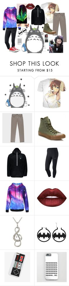 """My Brother And I"" by lila2402 ❤ liked on Polyvore featuring Converse, Spyder, NIKE and Lime Crime"