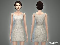 The Sims Resource: Martha dress by April • Sims 4 Downloads