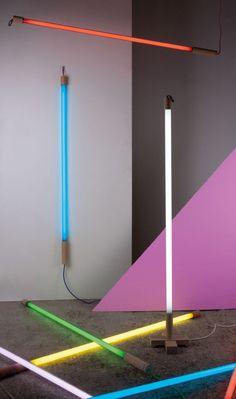 Coloured Fluorescent Tube Light   i love retro