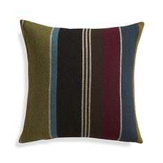 "Woolen Stripe 20"" Pillow I Crate and Barrel"