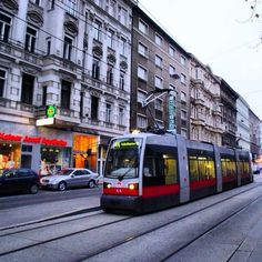 Tram in Wien London Transport, Public Transport, Heart Of Europe, Vienna Austria, City Architecture, Commercial Vehicle, Dream Vacations, The Magicians, Wonders Of The World