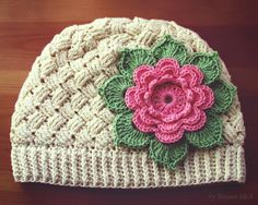 Crochet Baby Cable Hat - Chart ❥ 4U // hf