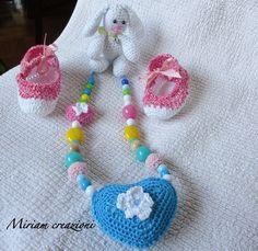 Collana Allattamento con cuore grande al cento, by vetrina miriam chiocciola, 16,00 € su misshobby.com