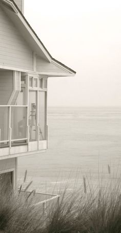 Ocean Home in Malibu Black and White Photo by DianeBronstein