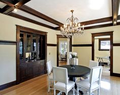 Dark wood trim