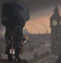 Love this pic of Jacob looking down on industrialized London