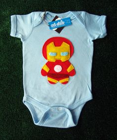 Revengers  Iron Baby Infant Bodysuit by micielomicielo on Etsy, $28.00
