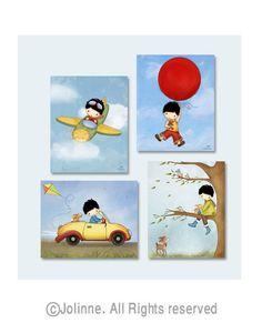 Boys room wall art posters for little boys room boys nursery art kids room decor #Jolinne