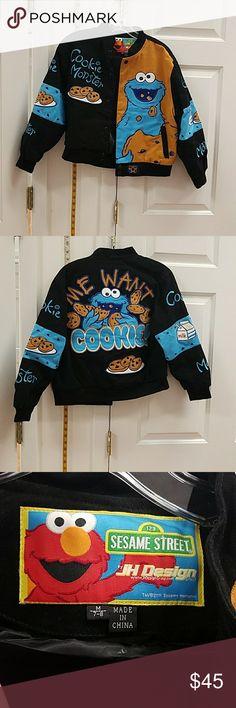Cookie monster Sesame street jacket Cookie monster jacket never worn no tags. Sesame Street Jackets & Coats Blazers