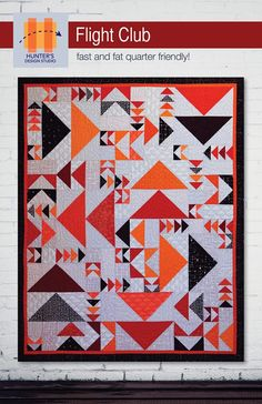 Flight Club quilt pattern Hunters Design Studio modern