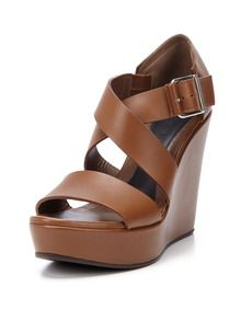 Leather Platform Wedge Sandal by Marni at Gilt