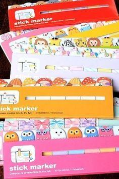 Cute Sticky Memo Marker Set... CUTE!