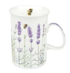 I Love Lavender fine bone china mug