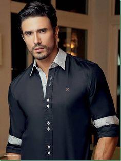 Lucas Gil for Happy Man Verão 2014 Brazilian Men, Brazilian Models, Gq Style, Pretty Men, Attractive Men, Good Looking Men, Well Dressed, Sexy Men, Shirt Style