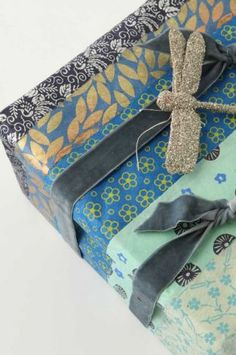 Blue Gift Wrap #giftwrapping