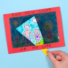 This interactive Father's Day card is a fun way to tell your Dad how much you love him! Happy Fathers Day Message, Fathers Day Messages, Children's Day Craft, Craft Gifts, Craft Ideas, Father's Day Specials, Happy Children's Day, Craft Free, Fathers Day Crafts