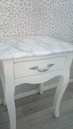 .: DIY - Marmorikuosiset yöpöydät Nightstand, Table, Diy, Inspiration, Furniture, Ideas, Home Decor, Biblical Inspiration, Decoration Home