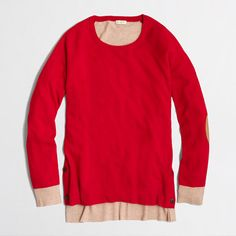 Factory Side-button Elbow-patch sweater in colorblock $39.50