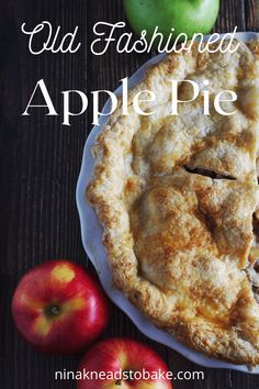 This old fashioned apple pie has a homemade flaky pie crust and a filling with layers and layers of different varieties of apples, spices and butter. Serve with a side of ice cream or custard for a traditional dessert. Apple Desserts, Dessert Recipes, Old Fashioned Apple Pie, Pie Crust Uses, Apple Filling, Homemade Apple Pies, Cupcakes, No Bake Pies, Fall Baking