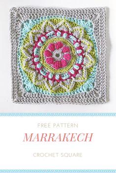 Free crochet granny square pattern from mobiusgirldesign.com
