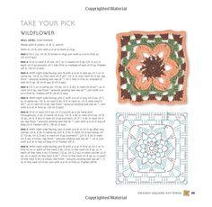 Granny Square Flowers: 50 Botanical Crochet Motifs and 15 Original Projects: Margaret Hubert: 9781589237803: Amazon.com: Books
