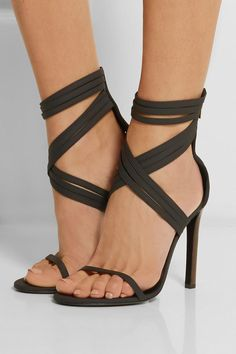 Cheap Flights Tamara Mellon Leather Sandals Black Boom Boom And Scuba