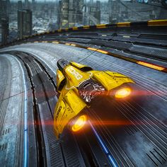 thegreenmenaceuniverse:  A.G Drive by St Manbring back Wipeout never was a game so Cyberpunk