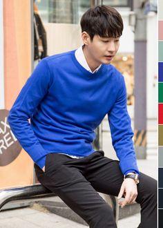 [[BR.25] 데일리 베이직 라운드 니트 남자패션 남자 패션 남성패션 남성 패션 남자 쇼핑몰 남자쇼핑몰 남성쇼핑몰