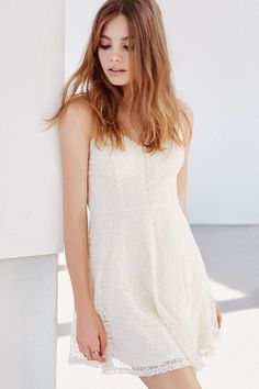 Ecote Lace Fit + Flare Dress