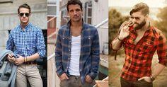 Koszula w kratę to niezbędny element w męskiej garderobie. Klasyczna i ponadczasowa. Button Down Shirt, Men Casual, Mens Tops, Shirts, Fashion, Moda, Dress Shirt, Fashion Styles, Dress Shirts