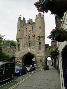 This fantastic gatehouse is the Micklegate Bar, the main entrance into the city of York. York (North Yorkshire, England) has more miles of intact city walls than anywhere else in England.