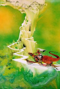 In This Hub-Page We Journey Through Four Decades Of Album Art by Graphic Designer Roger Dean Also Including Record Label Art and Logo Designs and More. Fantasy Landscape, Fantasy Art, Yes Album Covers, Roger Dean, 70s Sci Fi Art, English Artists, Science Fiction Art, Fantasy Illustration, Visionary Art