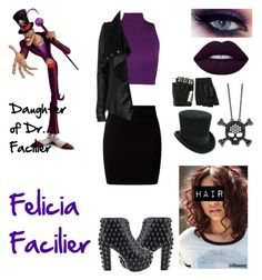 """Felicia Facilier: Daughter of Dr. Facilier (RE-Done)"" by queenreigns-916 ❤ liked on Polyvore featuring Laurèl, New Look, WearAll, River Island, Jeffrey Campbell, BERRICLE and Majesty Black"