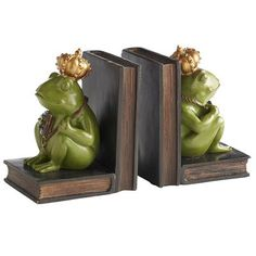 Pier 1 Imports Frog with Crown Bookends