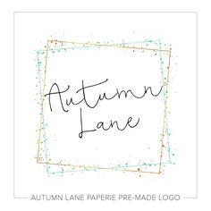 Premade Logo Design Square Photography By AutumnLanePaperie Logos Personnalises Image De Marque L