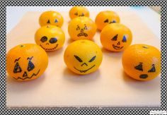 Halloweenmandarinen Halloweensnacks  by**www.missmommypenny.de**