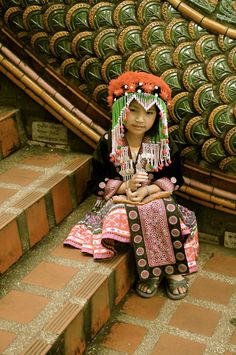 hill tribe girl in chiang mai