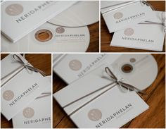 CD sleeves printed letterpress #photography #packaging