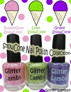 Snow Cone Nail Polish Collection of 3
